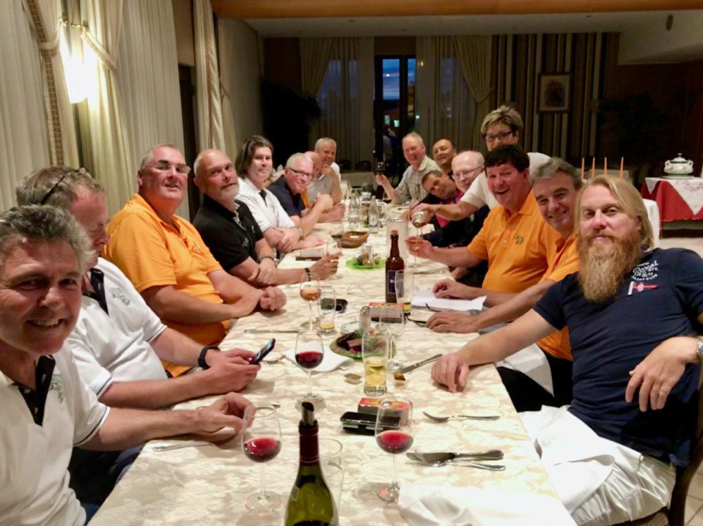 Last dinner at Hôtel de la Frontière...